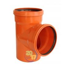 Тройник ПВХ для наружной канализации Ду 110