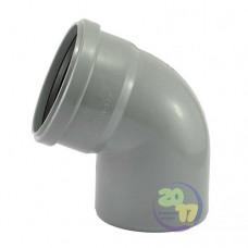 Колено ППР для внутренней канализации 67°