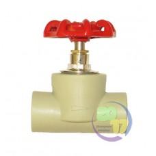 Вентиль проходной полипропиленовый Ду 20 мм. VS Plast