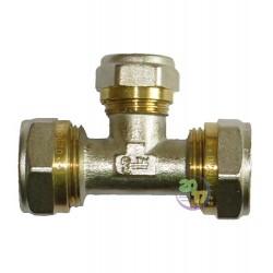 Тройник промежуточный переходной Ду 16х20х16 мм. для металлопластиковых труб
