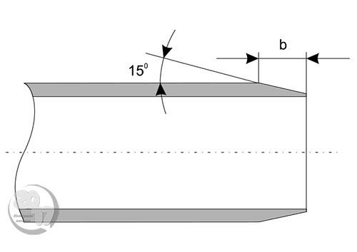 Схема резки канализационных труб