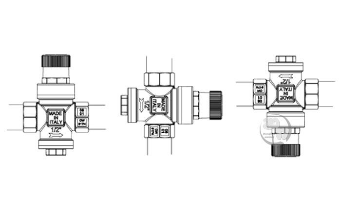 Варианты размещения редуктора давления