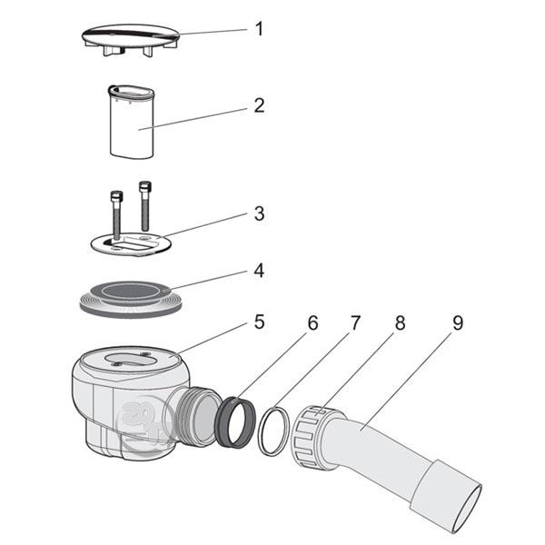 Обзор компонентов слива для душа Domoplex Viega